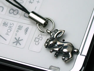 うさぎ(ラビット)の携帯ストラップ