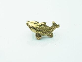 【K18イエローゴールド】18金製の鯉ピアス(1個)【18金製キャッチ付属】【レビューを書いて500円オフ】