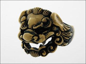 獅子頭リング(ブラス製)