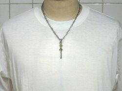 【K18イエローゴールド】降魔の三鈷剣ペンダントトップ・18金イエローゴールド&スターリングシルバー