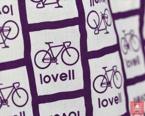 手ぬぐいハンカチ日本製自転車ラベル