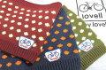 [lovell/ラベル]ドット水玉柄ランチバッグミニトートリサイクルパンチカーペット生地自転車柄カラフル85123-85129
