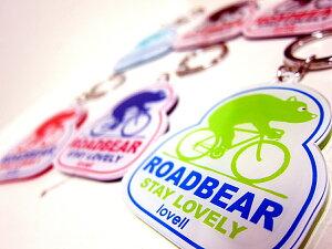 キーホルダーかわいい自転車デザインロードベアラベル