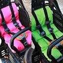 LAKIAチャイルドシート用クッション ピンク グリーン おしりが痛くない快適設計 チャイルドシート用クッション 前後兼用 子供 子供乗せ