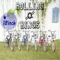 RollingRings【18インチ】子供用自転車BMXタイプ低床フレームフェンダー・ワイヤー・バスケット付きキッズバイク幼児車子供ジュニア用おしゃれでかわいいマウンテンバイクタイプ[ローリングリングス]