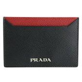 PRADA プラダ カードケース 1MC208 SAFFIANO BICOLORE FUOCO+NERO