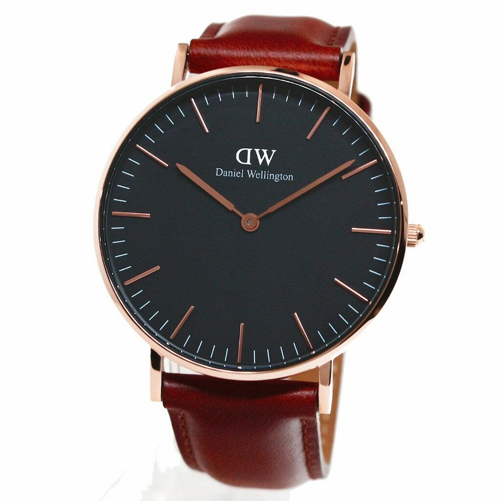 Daniel Wellington ダニエルウェリントン 腕時計 36MM 00100136DW Classic Black ST MAWES ROSE GOLD