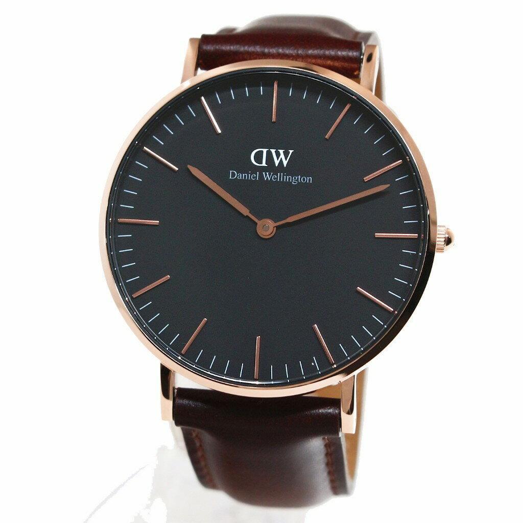 Daniel Wellington ダニエルウェリントン 腕時計 36MM 00100137DW Classic Black BRISTOL ROSE GOLD