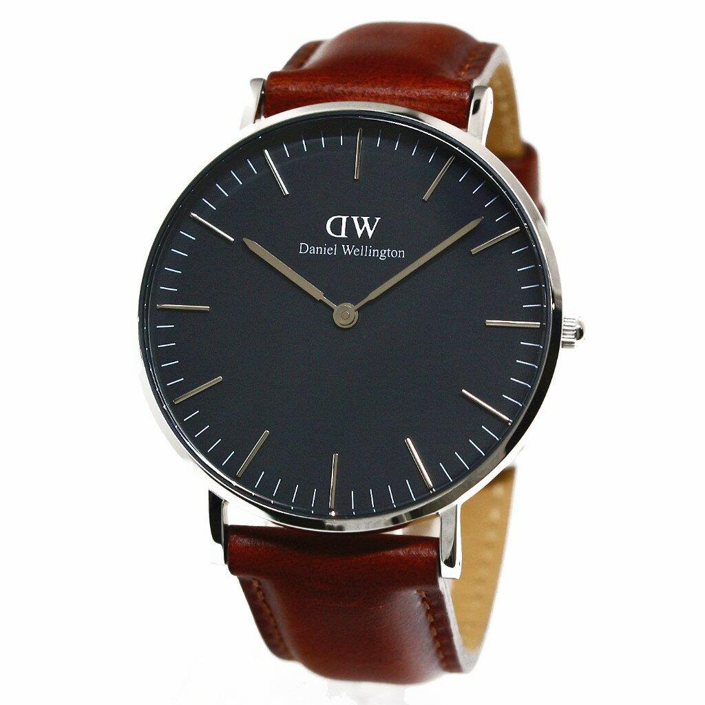 Daniel Wellington ダニエルウェリントン 腕時計 36MM 00100142DW Classic Black ST MAWES SILVER
