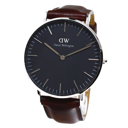 Daniel Wellington ダニエルウェリントン 腕時計 36MM 00100143DW Classic Black BRISTOL SILVER