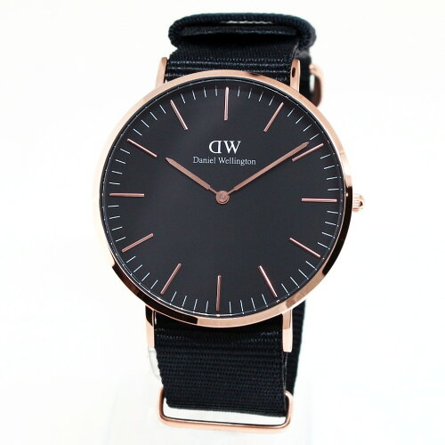 Daniel Wellington ダニエルウェリントン 腕時計 40MM 00100148DW Classic Black CORNWALL ROSE GO...