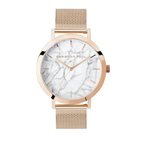 CHRISTIAN PAUL クリスチャンポール 腕時計 メンズ レディース マーブルメッシュ ホワイト M002PGM
