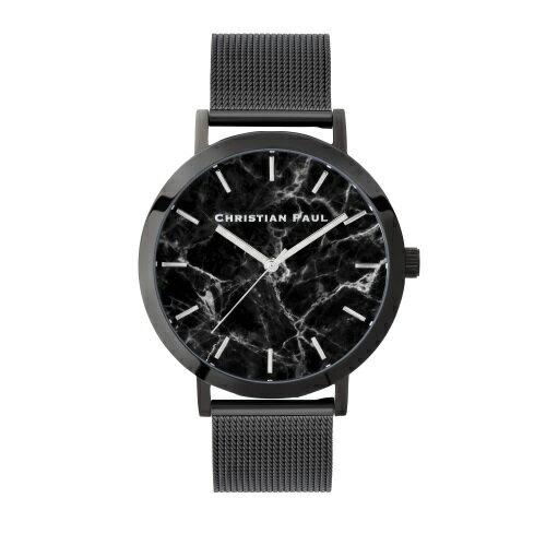 CHRISTIAN PAUL クリスチャンポール 腕時計 メンズ レディース マーブルメッシュ ブラック M001BKM