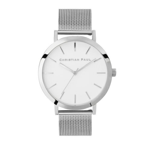 CHRISTIAN PAUL クリスチャンポール 腕時計 レディース ロウメッシュ ホワイト RL04SVM