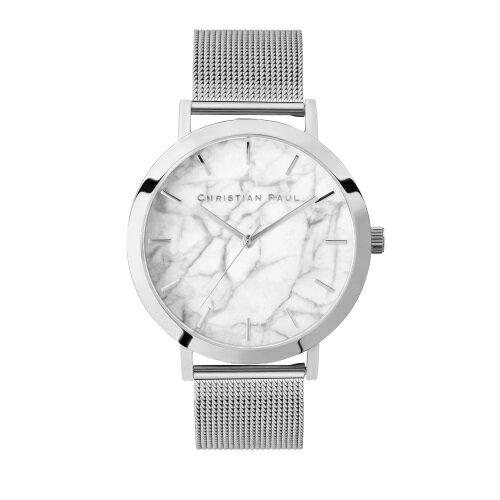 CHRISTIAN PAUL クリスチャンポール 腕時計 レディース マーブルメッシュ ホワイト ML03SVM