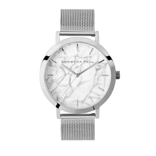 CHRISTIAN PAUL クリスチャンポール 腕時計 メンズ レディース マーブルメッシュ ホワイト M003SVM