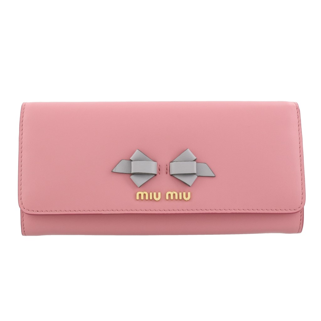 miu miu ミュウミュウ 長財布 レディース  ピンク 5MH109 UEI F0SXY PETALO GRANITO