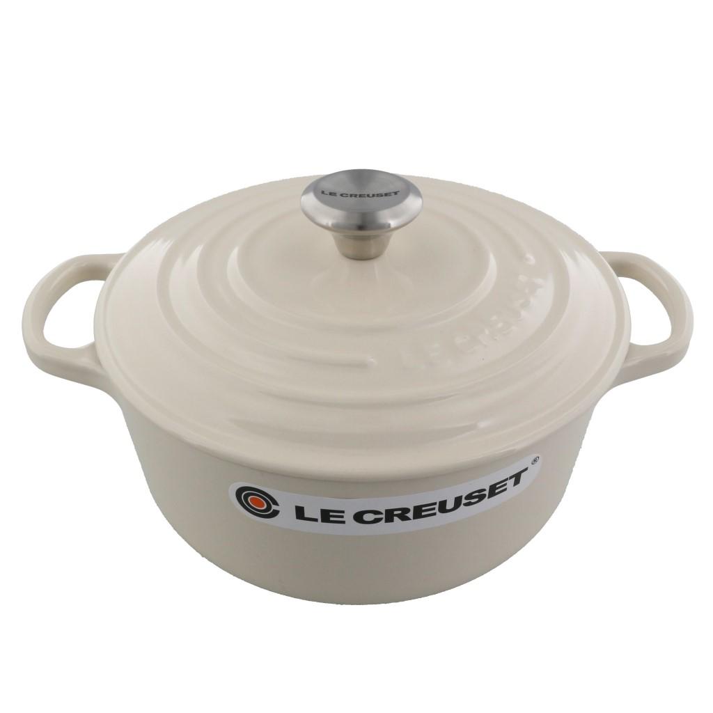 ル・クルーゼ LE CREUSET 両手鍋 ココットロンド ホワイト 21177-20 48 CREME