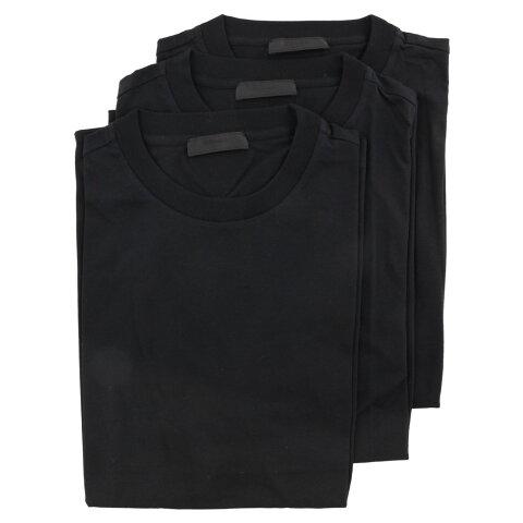 【24時間限定ポイント15倍】プラダ PRADA Tシャツ メンズ Mサイズ ブラック UJM492 S 181 ILK F0002 NERO