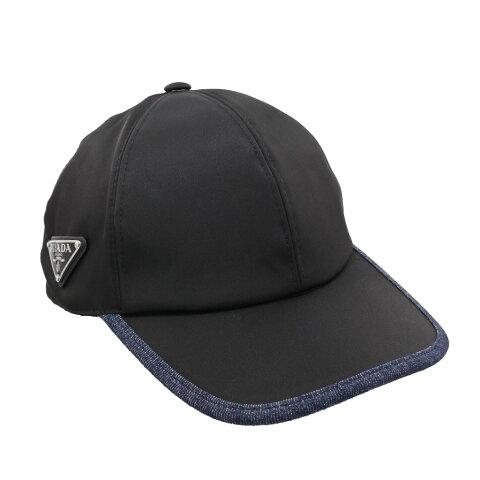 【24時間限定ポイント15倍】PRADA プラダ 帽子 メンズ ブラック 1HC2742DG F0D9M NERO+BLU