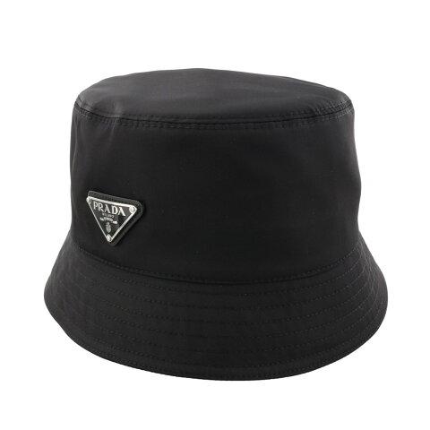 【24時間限定ポイント15倍】プラダ PRADA 帽子 Sサイズ TESSUTO TRIANGOLO ブラック 2HC137 2B15 F0002 NERO