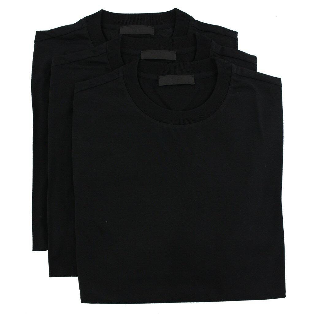 トップス, Tシャツ・カットソー PRADA T 3 UJL531 S 181 ILK F0002 NERO
