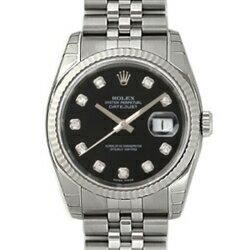 ROLEX Rolex Datejust 116234 G Black mens