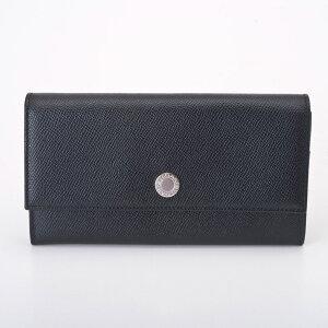 【送料無料】BVLGARI BVLGARI 27749 カーフカタオシ ブラック 長財布