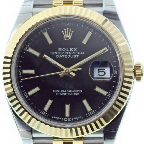 ROLEX ロレックス デイトジャスト41 126333 ブラック メンズ