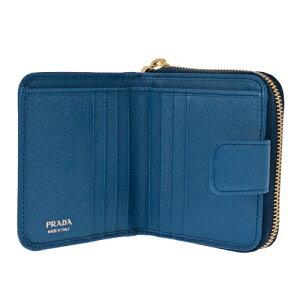 a668318c5fcb ... PRADAプラダ二つ折り財布レディースブルー1ML522QWAF0013AZZURRO ...
