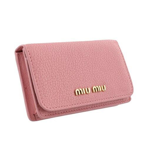 miu miu ミュウミュウ カードケース レディース  ピンク 5MC011 2BJI  F0387