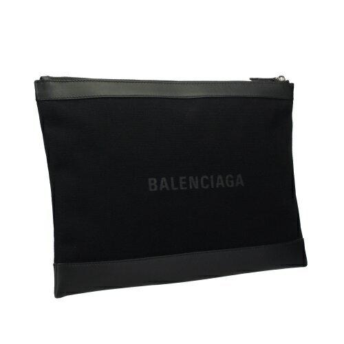 BALENCIAGA バレンシアガ クラッチバッグ NAVY CLIP L ブラック 373840 AQ3BN 1000