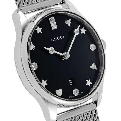 GUCCIグッチ腕時計レディースGタイムレスブラックパールYA1265001