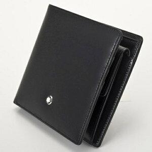 MONTBLANCモンブラン7164BLACK二つ折り財布