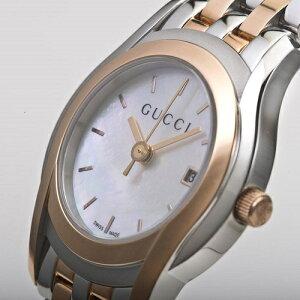 GUCCIグッチYA055538G-CLASSホワイトシェルレディース