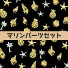 【メール便可】メタルスタッズ[夏限定・マリンパーツセット]50枚入り/ネイルジェルネイルネイルアートネイルセットデコメタルパーツシェルパームツリースターフィッシュパイナップル貝殻巻貝ひとで激安格安