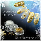 【メール便可】SNOWFLAKEDREAM雪の結晶プラパーツ1個/ネイルジェルネイルネイルアートレジンデコネイル用品結晶冬ネイル雪ゴールドシルバーホワイト