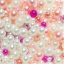 【メール便可】MIXカラーパールボール(ピンク) 2mm〜5mm ケース入 / ネイル ジェルネイル ネイルアート ネイルパーツ ハンドメイド レジン アクセサリー デコ パール 球体 穴なし ビジュー♪ 1