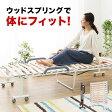 折り畳みベッド すのこベッド 薄型 ウッドスプリング すのこ スノコ ベッド シングル 湿気・カビ対策 通気性 一人暮らし ワンルーム シンプル キッズ 送料無料 送料込