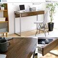 デスクパソコンデスクおしゃれなスチール脚の北欧デスク幅102cm北欧家具北欧デンマーク産