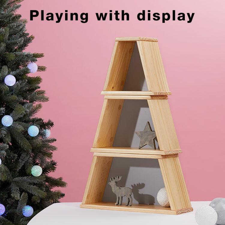 [クーポン500円OFF 4/25 12:00〜4/26 1:59] クリスマスツリーボックス ツリー 収納 パイン クリスマス ディスプレイラック デスク収納 ラック sc4