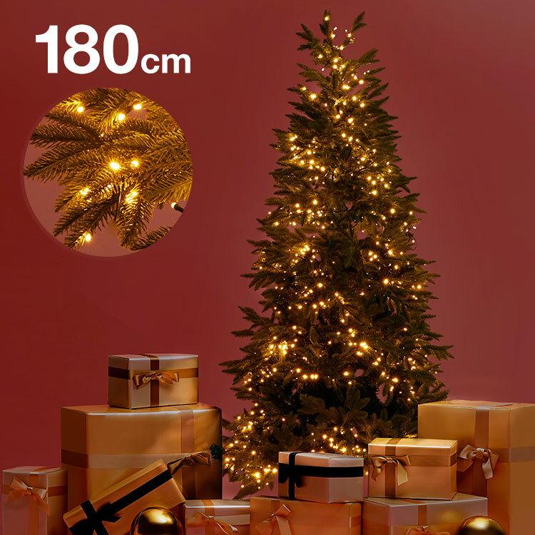 [クーポン2000円OFF 4/25 12:00〜4/26 1:59] クリスマスツリー 180cm クリスマス ツリー LED LEDライト 180cmクリスマスツリー シンプル 置物 店舗用 法人用 業務用 ショップ用 簡単組立