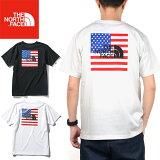 """【SALE】THE NORTH FACE ザ ノースフェイス NT32053""""S/S NATIONAL FLAG TEE""""ショートスリーブ ナショナル フラッグ ティー Tシャツ スクエア ロゴ アメリカ 星条旗 半袖 トップス アウトドア メンズ レディース 2カラー 国内正規 10%OFF"""