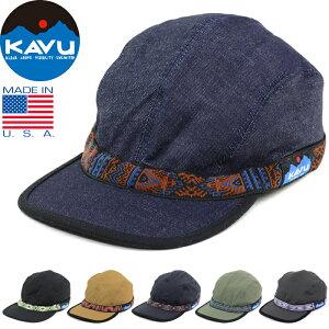 """【SALE】KAVU カブー 110""""STRAP CAP""""ストラップ キャップ 11863001 / 19810114 コットン キャンバス デニム 4パネル キャンプ ジェット アメリカ製 帽子 アウトドア メンズ レディース 6カラー 国内正規 10%OFF"""