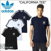 """【SALE】adidas Originals アディダス オリジナルス""""CALIFORNIA TEE""""カリフォルニア Tシャツ AJ8834 AJ8833 AP9019 トレフォイルロゴ 三つ葉 3ストライプ 3本ライン カットソー ストリート メンズ レディース ユニセックス 3カラー 国内正規 10%OFF"""