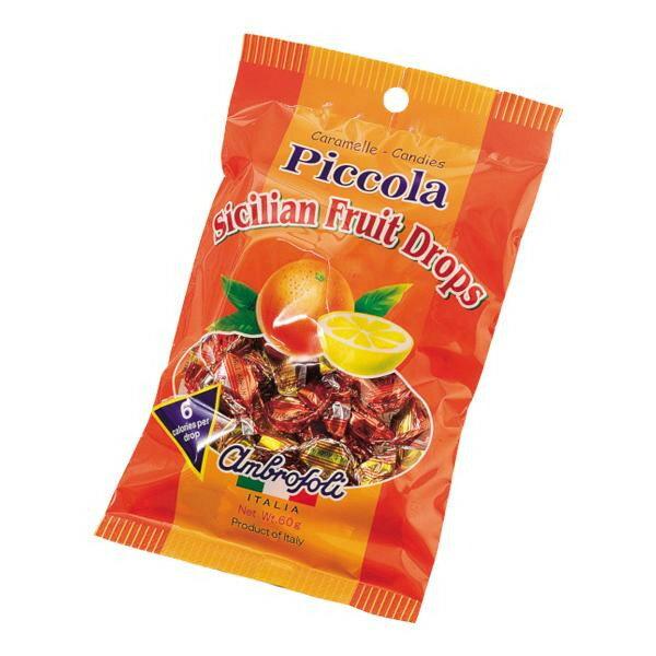 【同梱代引き不可】ambrosoli(アンブロッソリー) キャンディ ピッコラ シシリアンフルーツ 袋入 60g×12袋