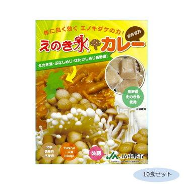 【同梱代引き不可】ご当地カレー 長野 えのき氷カレー(化学調味料不使用) 10食セット
