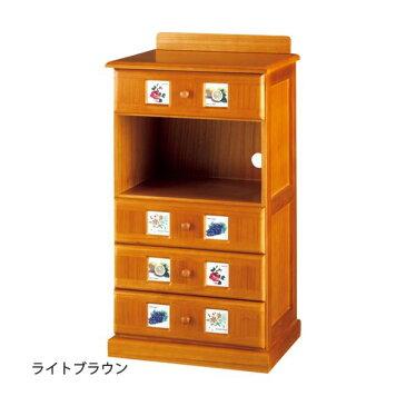 サイドボード/リビングボード (南欧風家具) 【2: 幅45cm】 木製 ホワイトウォッシュ 【完成品】