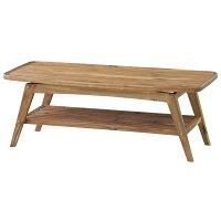コーヒーテーブル(ヴァルト)長方形木製棚付きNET-615