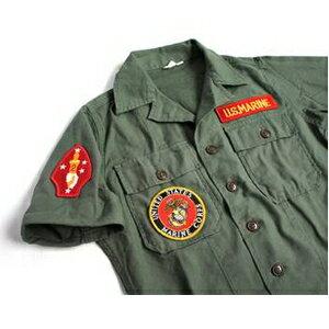 アメリカ軍 OG-107 ファティーグシャツ/半袖  柄/MARINE
